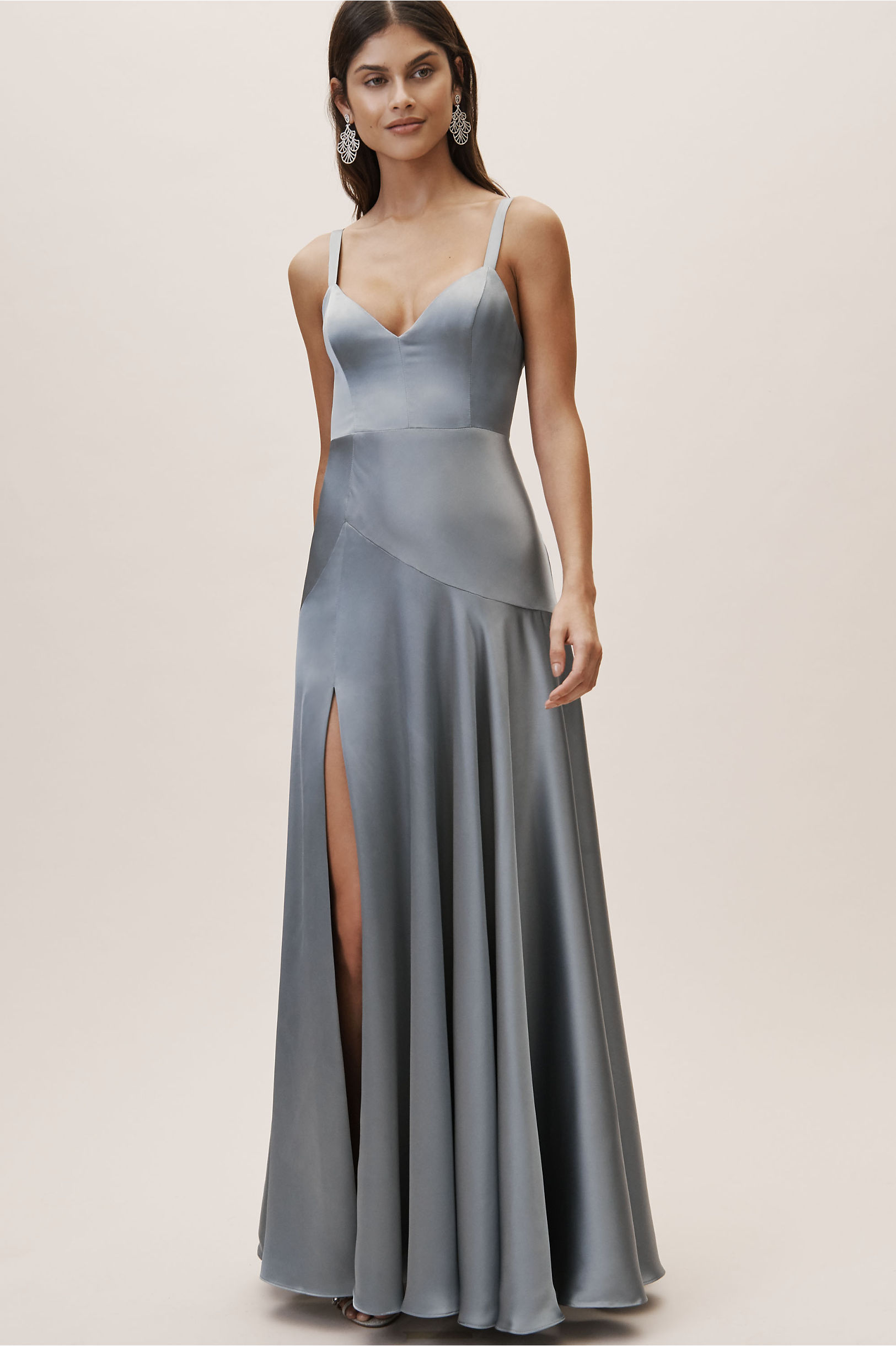 0157f713eaad5 Fame and Partners Dusty Blue Watkins Dress | BHLDN