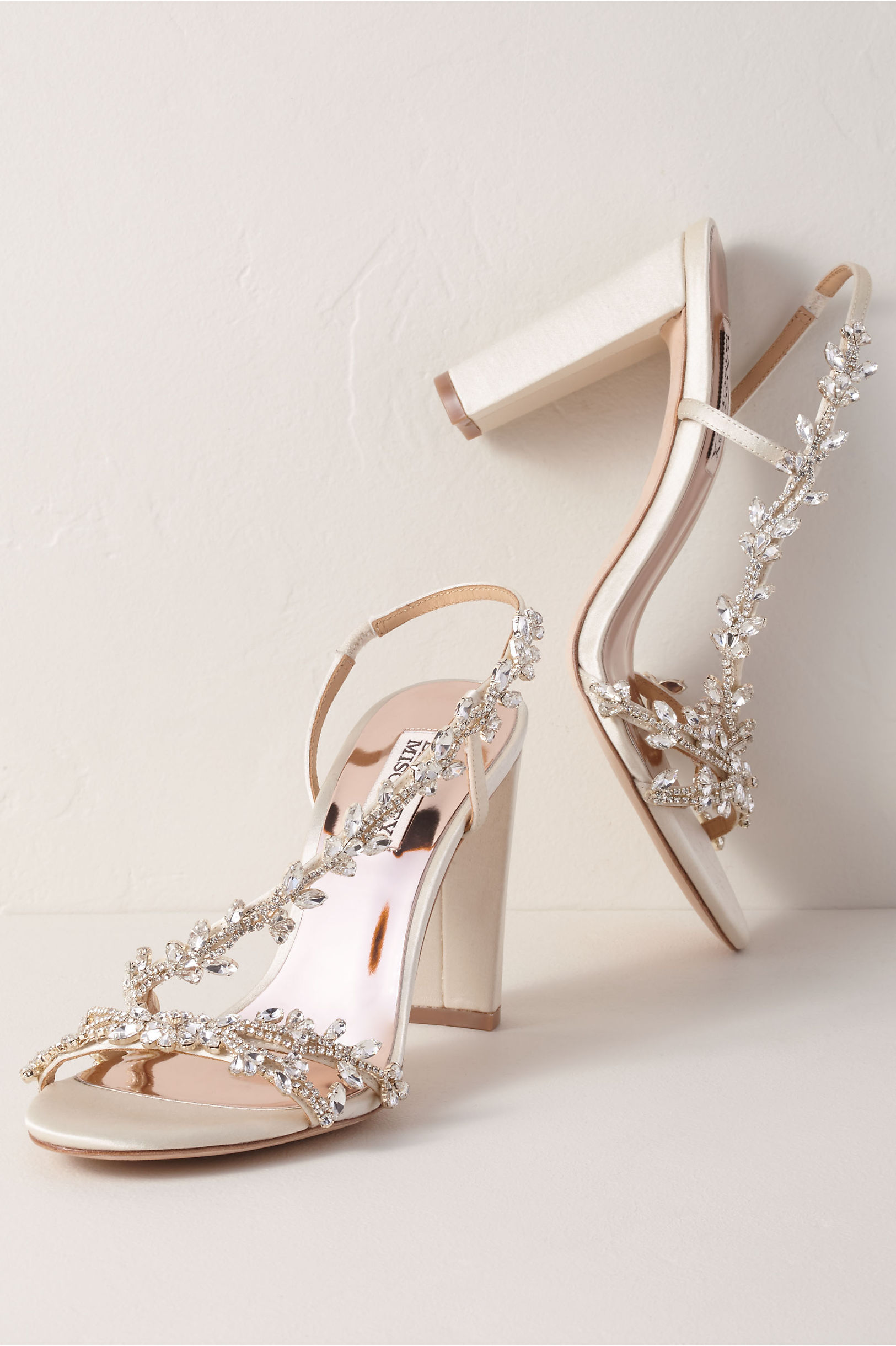 9e072286 Badgley Mischka Felda Heels Ivory in Bride | BHLDN