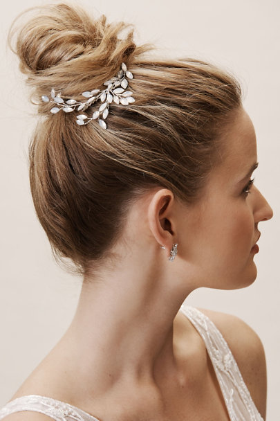 Untamed Petals Blue Waterfall Hair Comb | BHLDN