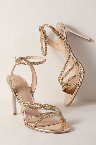 Jewel by Badgley Mischka Gold Jewel by Badgley Mischka Desiree Heels | BHLDN