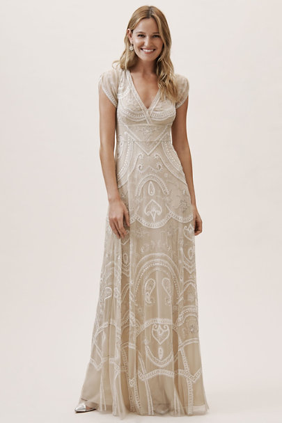BHLDN Nude/Ivory Jonas Dress | BHLDN