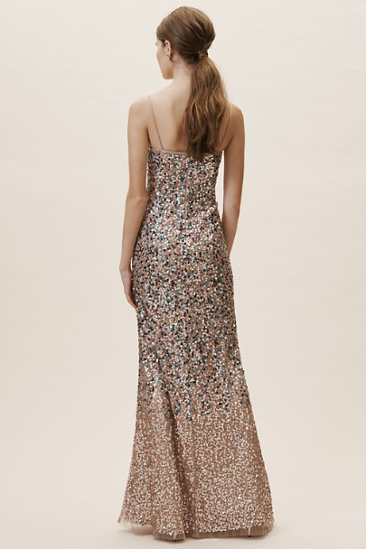 Adrianna Papell Rose Gold Lotti Dress | BHLDN