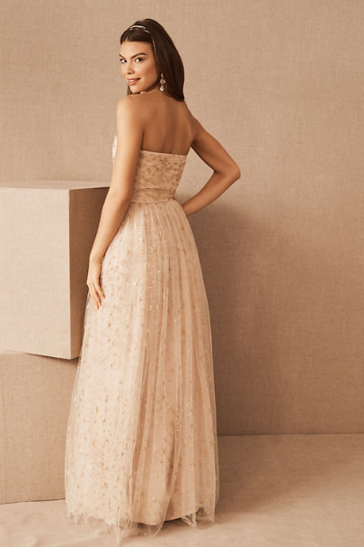 Joanna August Champagne Brenda Dress | BHLDN