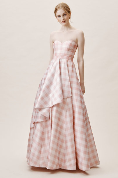 Fame and Partners Pink and White Gingham Tosia Gingham Dress | BHLDN