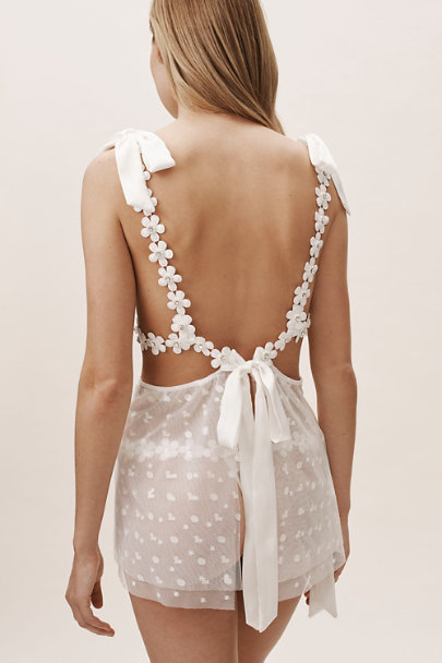 For Love & Lemons White Marguerite Tie Bra | BHLDN