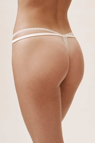 Palindrome White Amaranth Thong | BHLDN