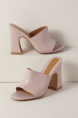 Crescent Leather Heels