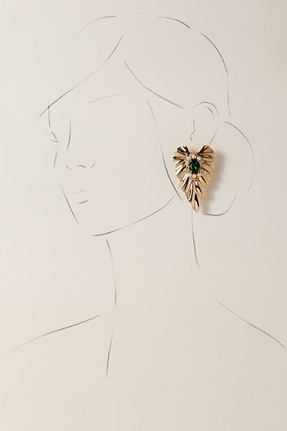 Anton Heunis Green Adana Earrings | BHLDN