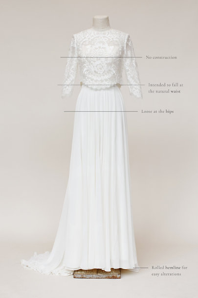 BHLDN Ivory Addie Topper | BHLDN