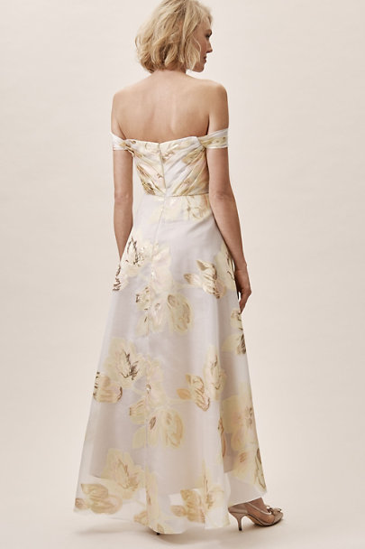 Aidan Mattox Ivory/Multi Walker Dress | BHLDN