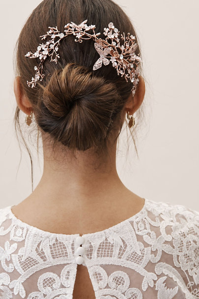 AA Bridal Pink Pero Hair Clip | BHLDN