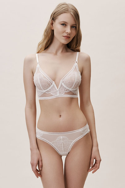 Thistle & Spire Ivory Mirage Thong | BHLDN