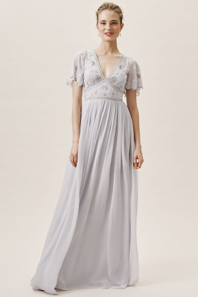 BHLDN Whisper Blue Fresna Dress | BHLDN