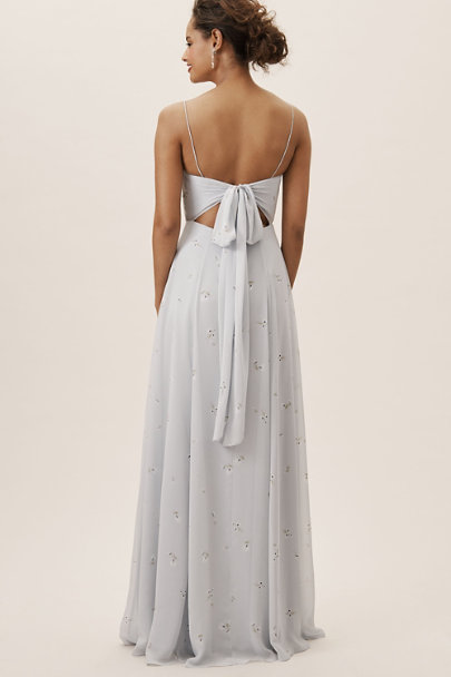 Jenny Yoo Ditsy Floral Print Whisper Blue Kiara Dress | BHLDN