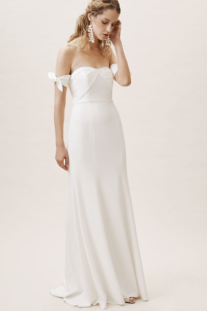 Watters Ivory Delilah Dress | BHLDN