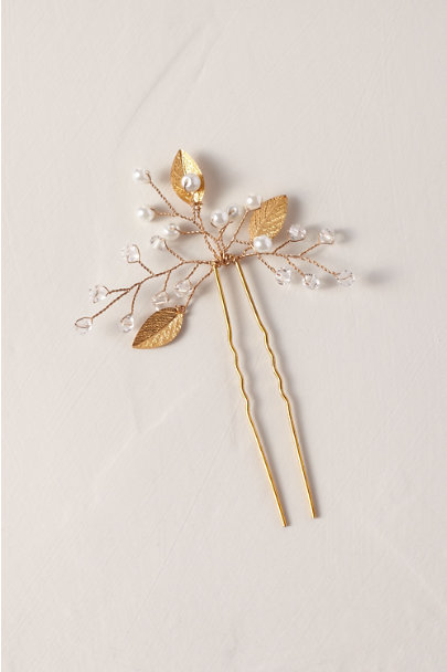 Davie & Chiyo Gold Iverness Hair Pin | BHLDN