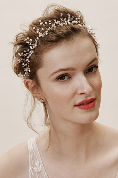 Davie & Chiyo Gold Marielle Halo | BHLDN