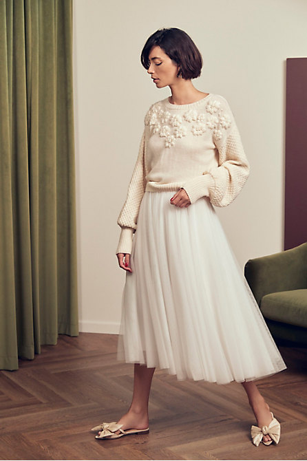 BHLDN Sonya Sweater & Nouvelle Amsale Nandita Skirt