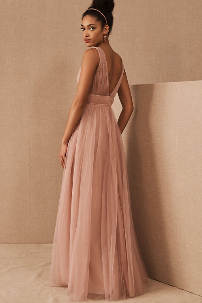 Jenny Yoo Whipped Apricot Sarita Dress | BHLDN