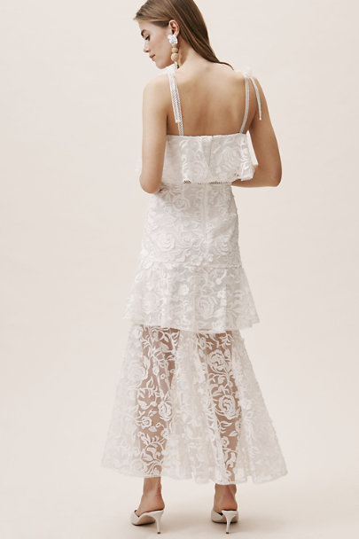 ML Monique Lhuillier Ivory Dalynn Dress | BHLDN