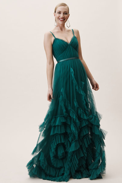 Marchesa Notte Emerald Manila Dress | BHLDN
