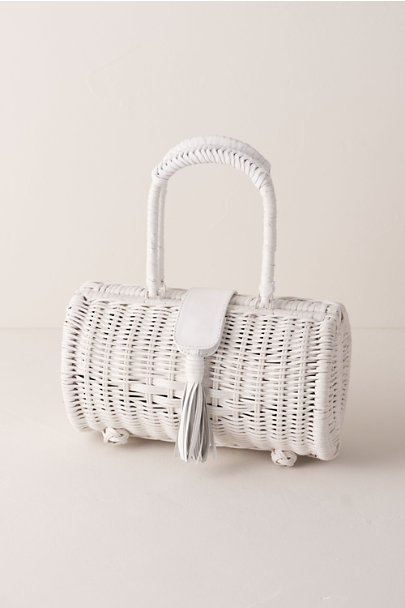 Cleobella White Clarissa Basket Bag | BHLDN