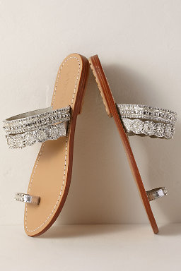 Silver Sandals.