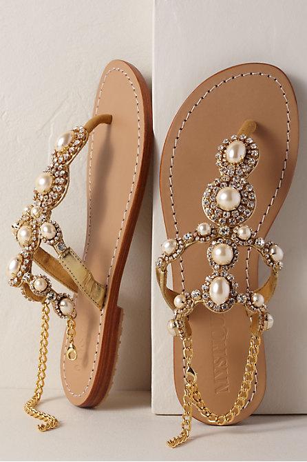 Mystique Gold Pearl Sandal