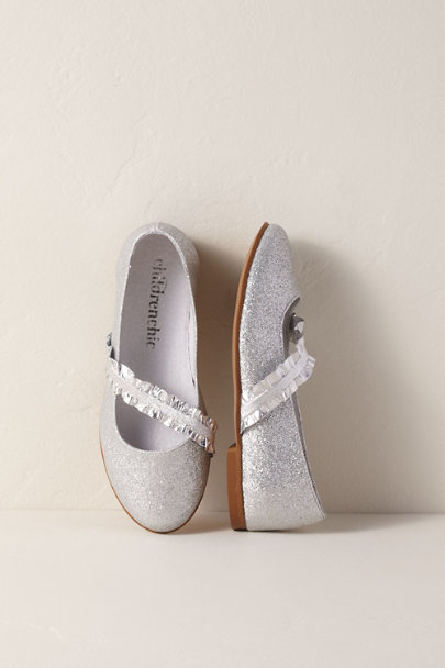 Childrenchic Silver Dory Flower Girl Flats | BHLDN