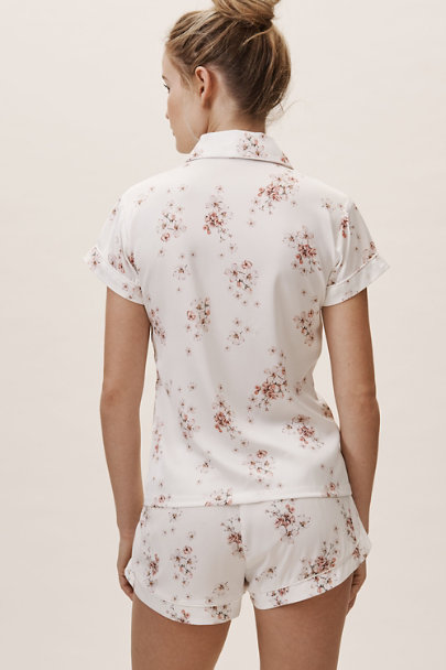 Homebodii Ivory Ditsy Floral Pajama Set | BHLDN