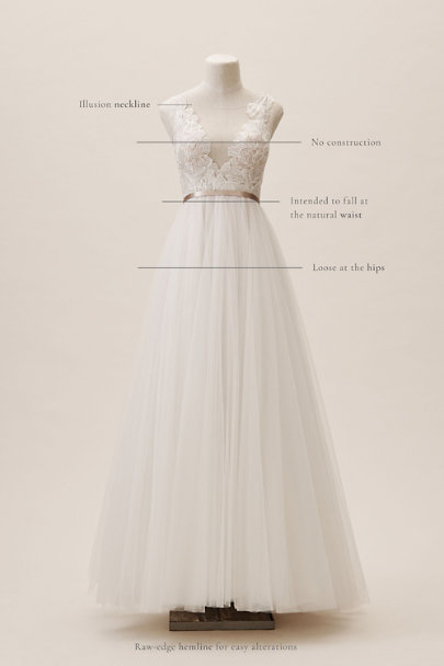 Wtoo by Watters Ivory/Blush Lange Gown | BHLDN