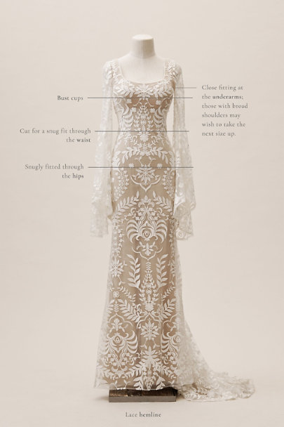 Willowby by Watters Ivory/Nude Andres Gown | BHLDN