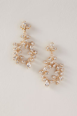 Vine Crystal Chandelier Earrings