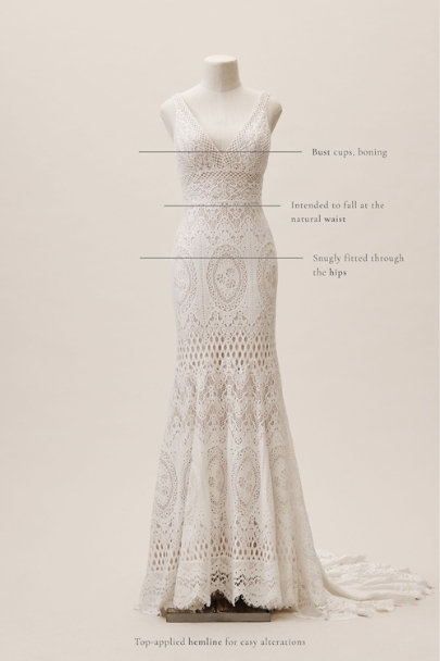 BHLDN Ivory/Nude Peoria Gown | BHLDN