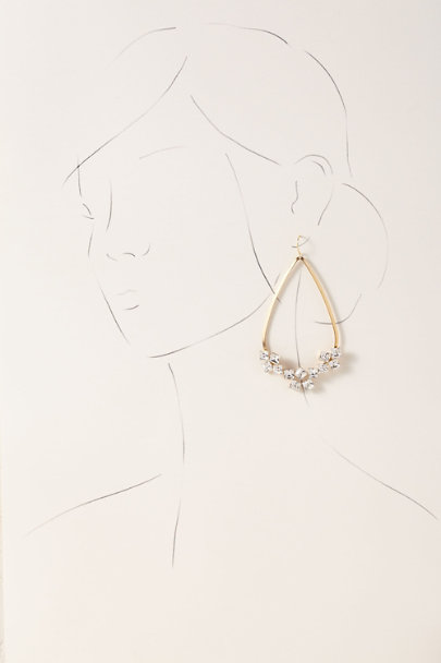 A.B. Ellie Gold Derya Hoop Earrings | BHLDN