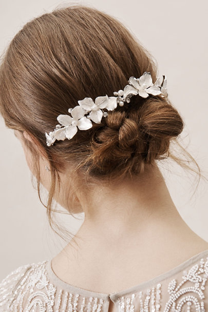 Brides & Hairpins Silver Noeme Halo | BHLDN