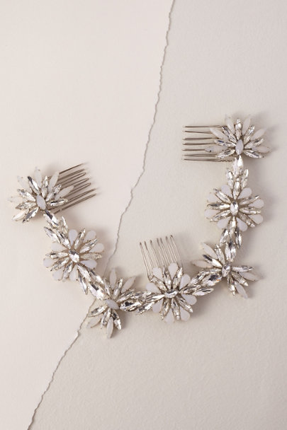 Brides & Hairpins Silver Phaedra Halo | BHLDN