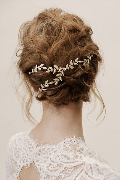 Debra Moreland Gold Flori Hair Vine | BHLDN
