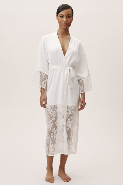 Rya Collection Ivory Queen Maxi Robe | BHLDN