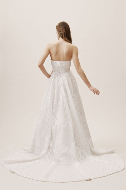 Jenny Yoo White/Blush Maine Gown | BHLDN