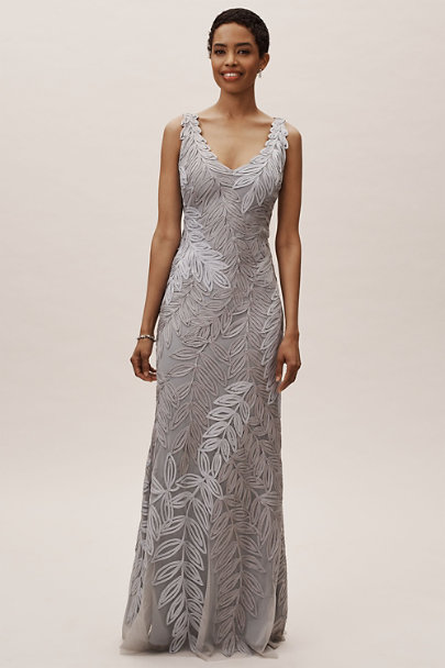 JS Collection Ice/Grey Cooper Dress | BHLDN