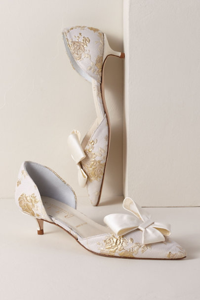 Something Bleu Ivory Something Bleu Cliff Kitten Heels | BHLDN