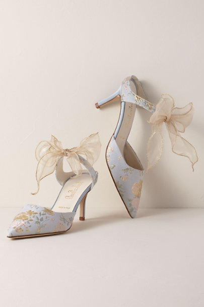 Something Bleu Blue Something Bleu Elvie Heels | BHLDN