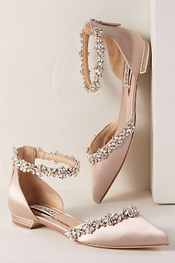 a70fdb8a1aed47 Flat Sandal Wedding Shoes Silver wedding shoes flat. Badgley Mischka Ginny  Heels.  235.00. Badgley Mischka Vivien Flats