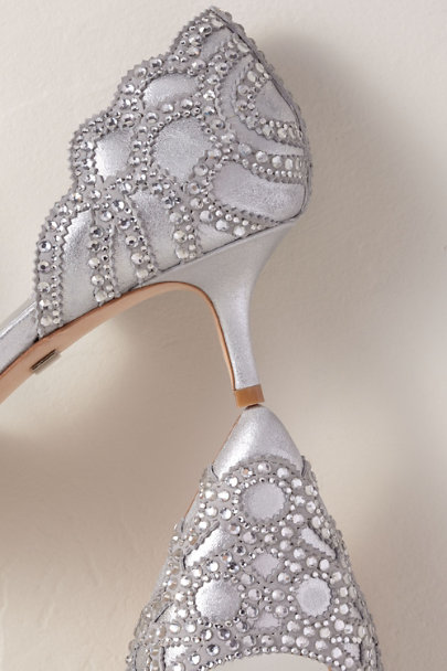 Badgley Mischka Silver Badgley Mischka Ginny Heels | BHLDN