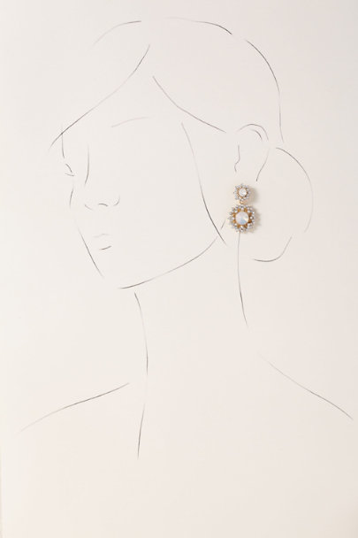 Stella & Ruby Gold Opal Starburst Earrings | BHLDN