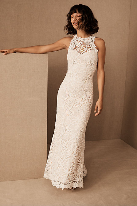 High Neck Wedding Dresses Gowns Bhldn