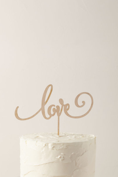 The Roc Shop Neutral Motif Love Cake Topper | BHLDN