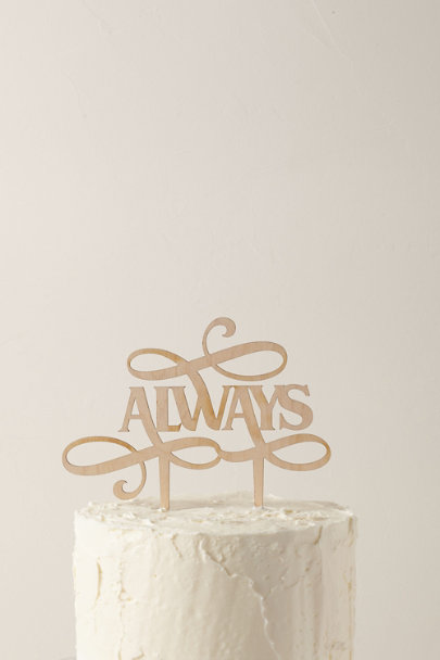 The Roc Shop Neutral Motif Always Cake Topper | BHLDN