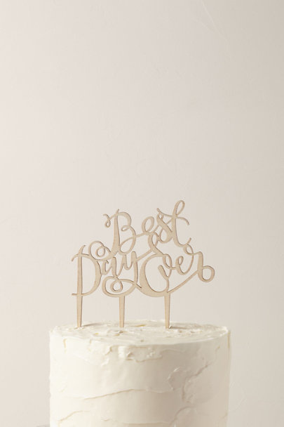Ginger Ray Brown Best Day Ever Cake Topper | BHLDN